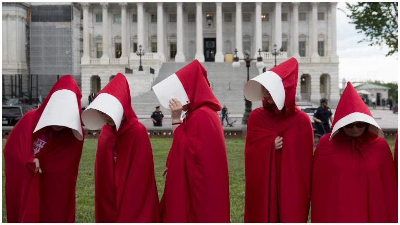 Handmaids Tale Protesters at Supreme Court